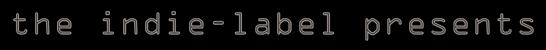 Logo Indie Label Presents