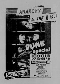 Plakat für das Punk-Rock Festival im '100 Club' von Jamie Reid