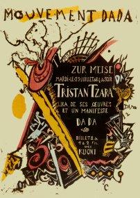 Plakat für Dada-Veranstaltung im 'Zunfthaus zur Meise'