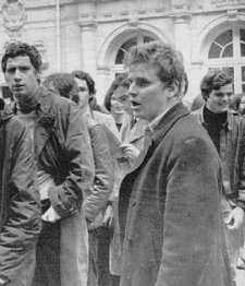 Dany Cohn-Bendit at the Sorbonne 1968