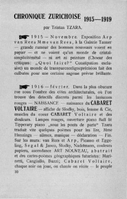 first page of CHRONIQUE ZURICHOISE